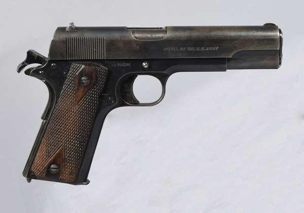 Colt 1911 #345026 (sheet letter E) (T-72), est $800-$1200