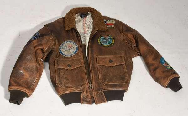 WW II leather bomber jacket type G-1