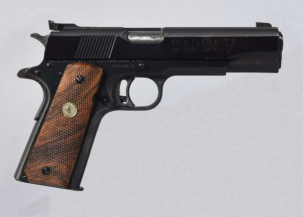 Colt, Mark IV series 70, 45 auto, #70N04419, (clip at desk) (T-75)