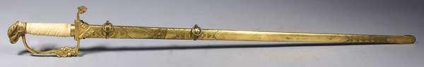 "Naval Presentation sword, 36""L."