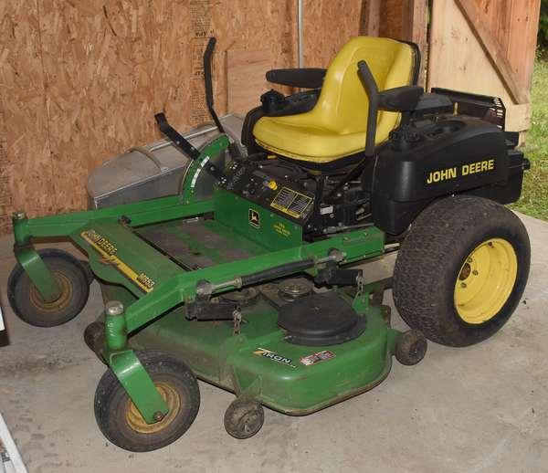 Ref 3: John Deere M653 Z-Track riding mower, working well (44-571)