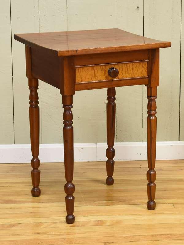 Sheraton cherry one drawer stand ca. 1820 (34-4)