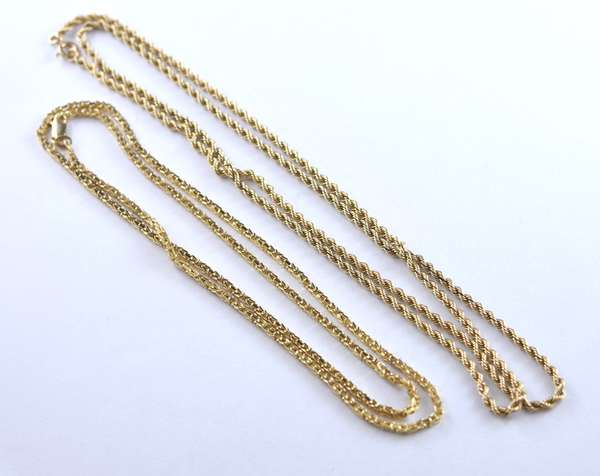 Two 14k gold chains (320-20)