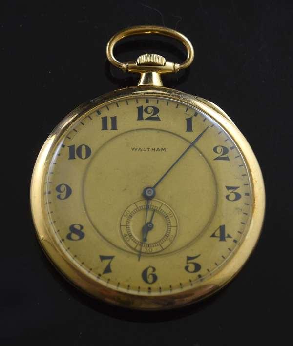 18k Waltham pocket watch (360-821)