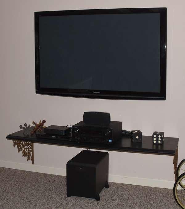 "Panasonic 65"" large size flatscreen TV and speakers"