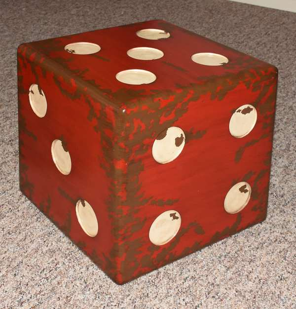 Dice shaped coffee table