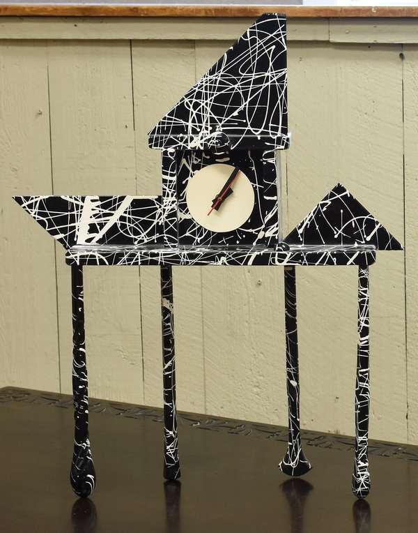 """Rick Birkett Fantasy clock, 22""""W. x 26""""H. x 5""""D. (464-13)"""