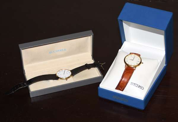 Two wrist watches, gentleman's Seiko and Bucherer with boxes (464-15)
