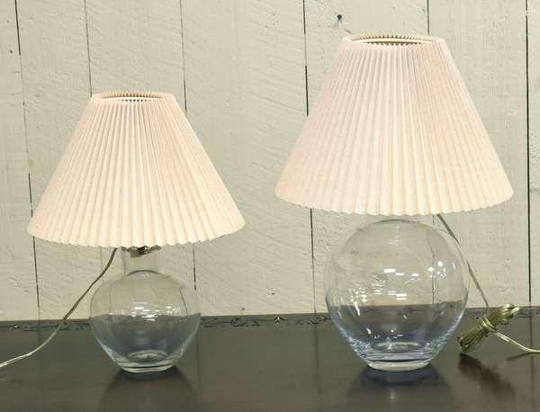 Two Simon Pearce lamps (464-21)