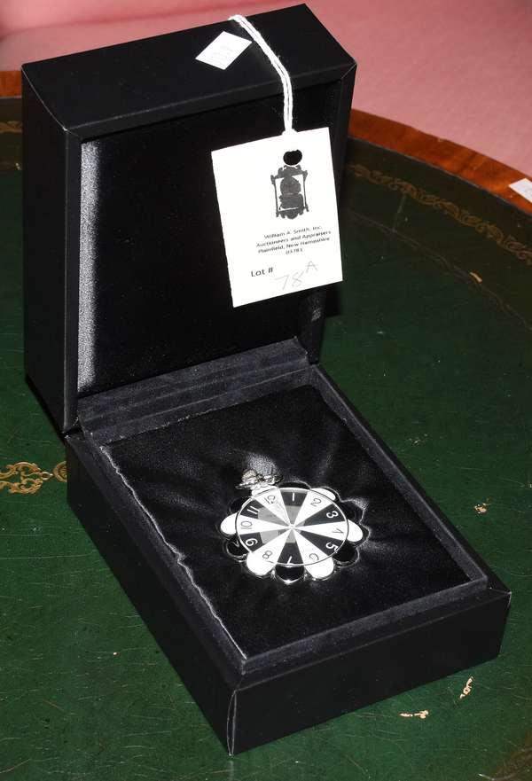 Wasserman Erte silver pocket watch with original box
