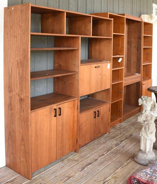 Four Danish modern bookcases (14,11,13,)