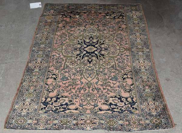 "Persian antique scatter rug, 3'4"" x 4'10"" (Ref 205)"