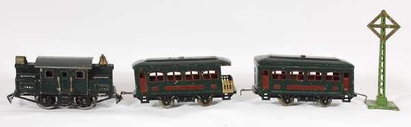 Lionel Set No. 92, 152 Electric Loco, 629 (2), 630 Cars, OBS & set box.