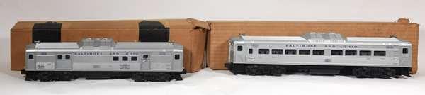 Lionel 400 Budd Passenger Car, 404 Budd Baggage-Mail Car, OBS