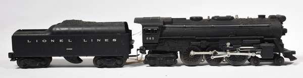 Lionel 665 4-6-4 steam loco, 2046W tender