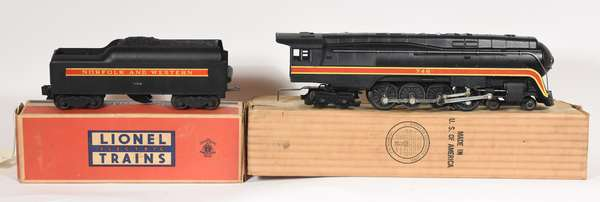 Lionel 746 N & W 4-8-4 Class J Northern, tender w/short stripe, OBS