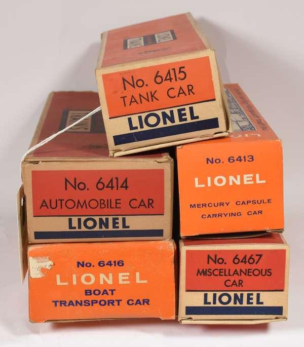 Lionel Postwar Freights, 6467, 6416, 6415, 6414,6413, OBS.