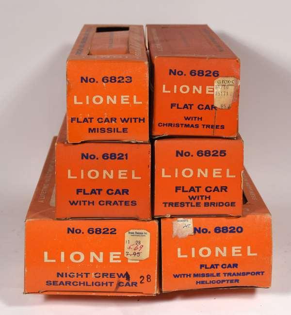 Lionel Postwar Freights, 6825, 6826, 6823, 6821, 6822, 6820, OBS