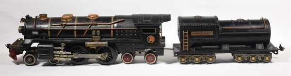 Lionel Standard 400E 4-4-4 steam locomotive/tender plus new motor