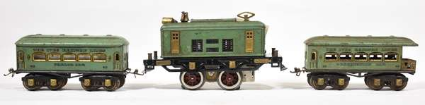 Ives Set, Electric Loco, 62, 68 cars