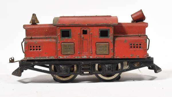 Ives Electric Locomotive 3251, red