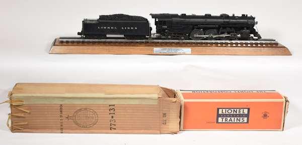 Lionel 773 4-6-4 NYC Hudson steam locomotive, 2426W tender, Display Case OBS