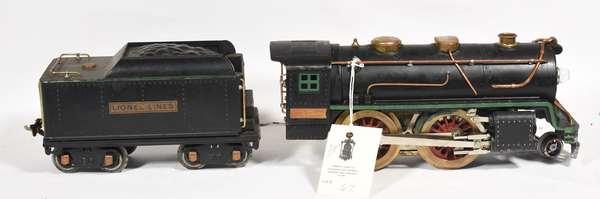 Lionel Standard 384E Steam Loco 2-4-0 and Tender, 384T