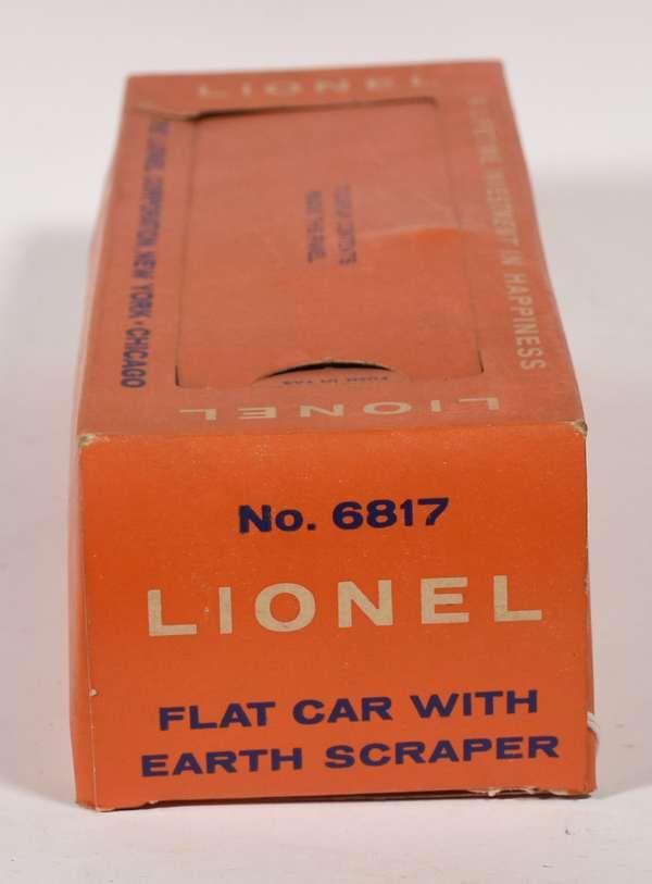 Lionel No. 6817 Flat Car with Earth Scraper, OB