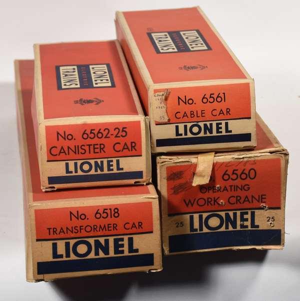 Lionel Postwar Freights, 6560, 6562-25, 6561, 6518, OBS