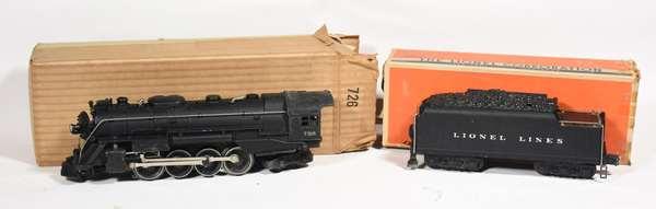 Lionel 726 2-8-4 Berkshire steam loco, 2426W tender, OBS