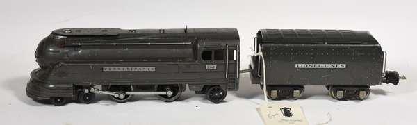 Lionel Pennsylvania 238E torpedo steam loco, 265W tender, gray
