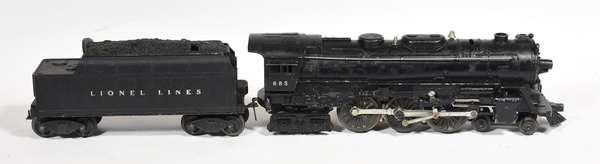Lionel 4-6-4 685 steam loco, 6466W tender