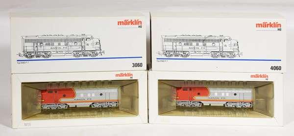 Marklin 3060, 4060 Santa Fe EMD F-7, OBS