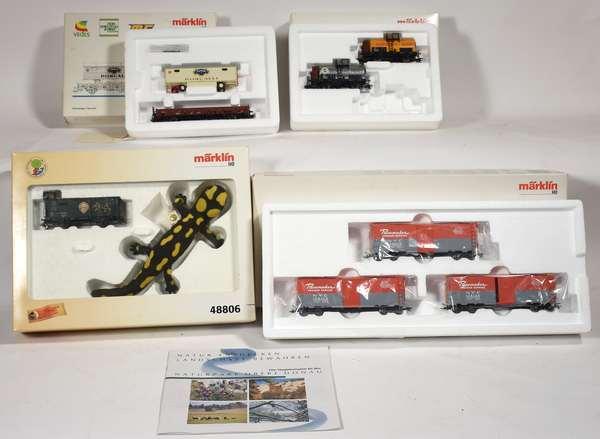 Marklin Freight Cars, 46946, 46752, 48806, 45648, OBS