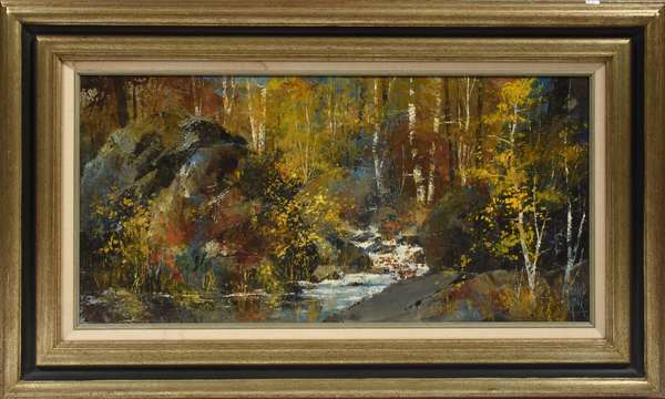 """""""Bend in Cold Creek"""" by Jack Laycox, 17"""" x 31"""""""