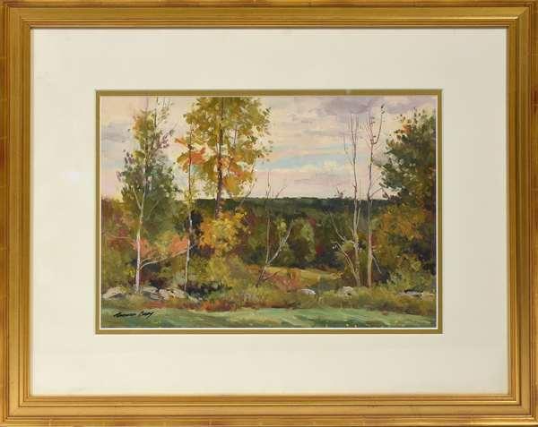 Bernard Corey oil, VT landscape