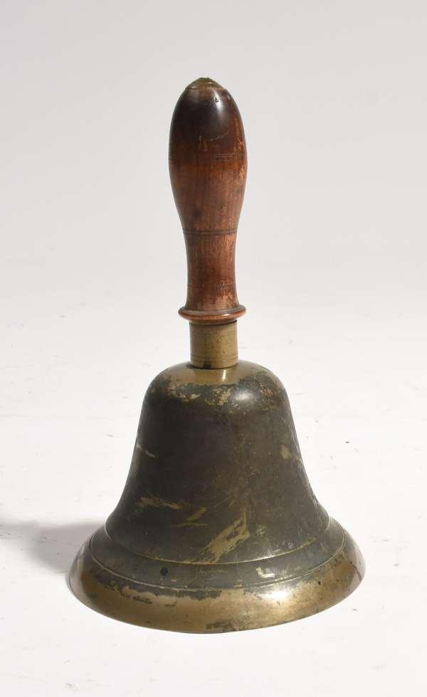 """Early school bell, 11""""H."""