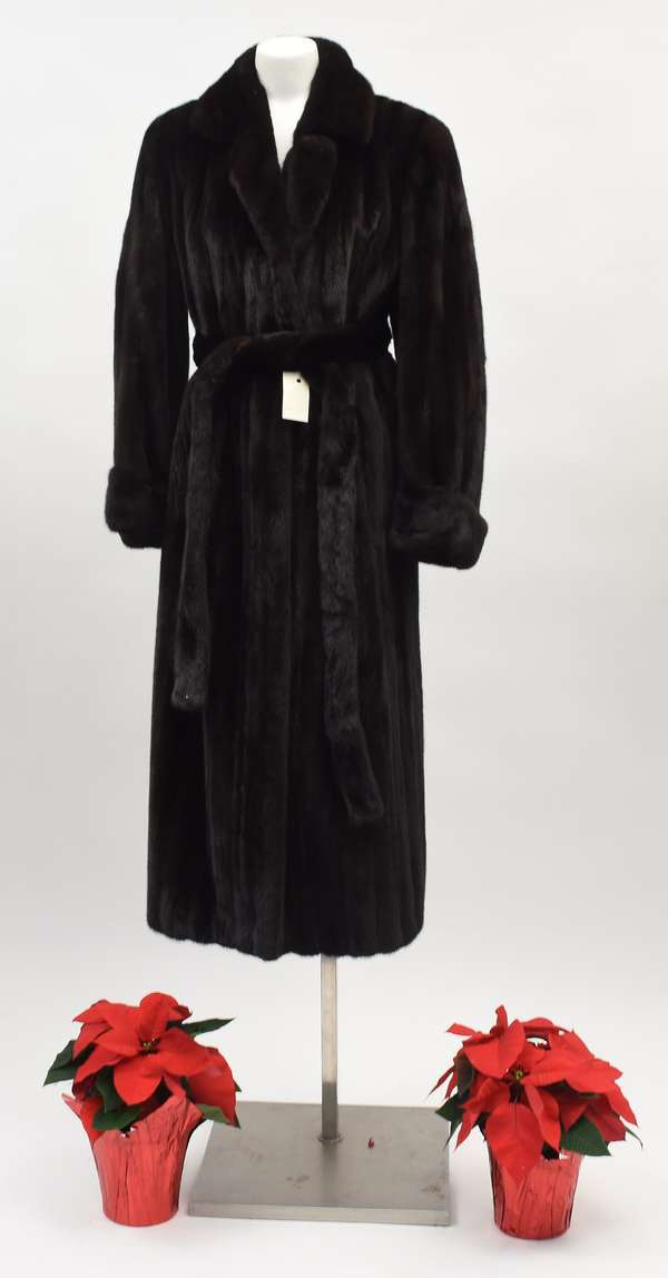Mink coat by Max Zeller Furs, consignor paid $20,000 retail (297-42)