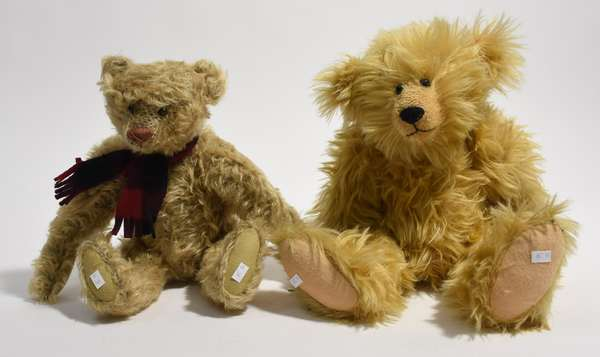 """Two teddy bears 17"""" and 18"""" (96-39)"""