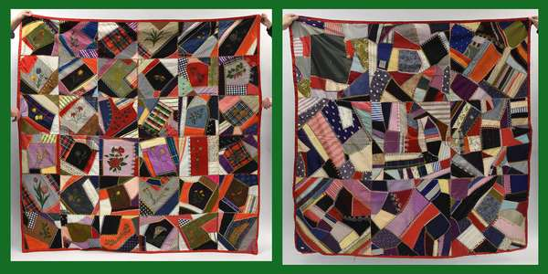 Two crazy quilts (600-6)