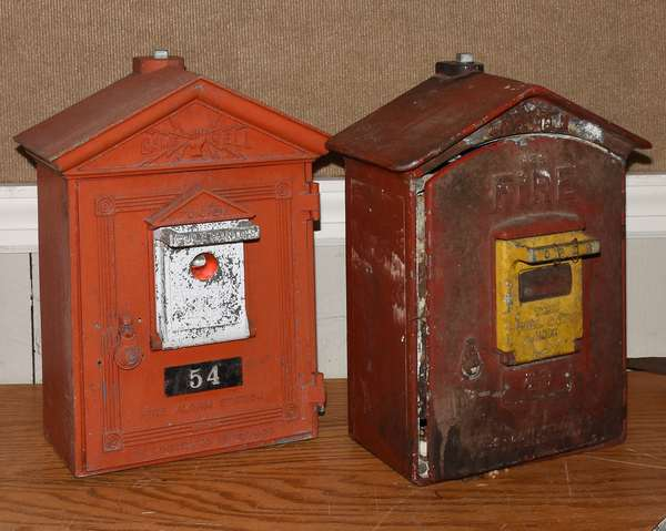 """Two fire wall boxes, 17""""H. (23-11)"""