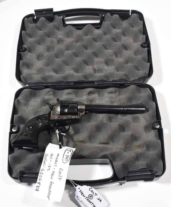 Firearm: Colt revolver, New Frontier, .22 cal. serial # G206824 (T-141) (90-2)