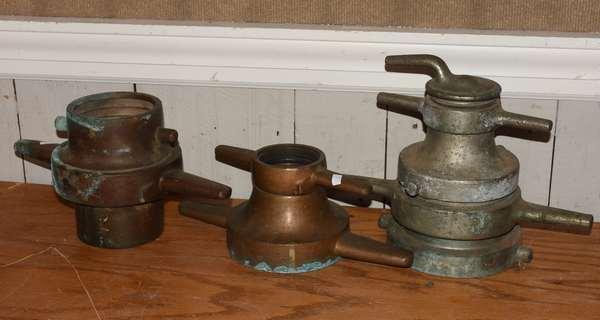 Three fire hose reducers (23-3)