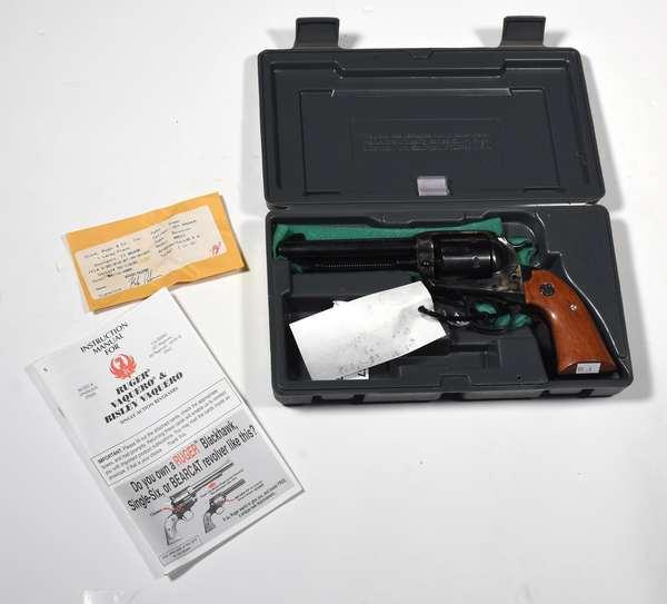 Firearm: Ruger revolver, Vaquero-Bisley, .357 cal. serial # 58-11638 (T-134) (90-4)