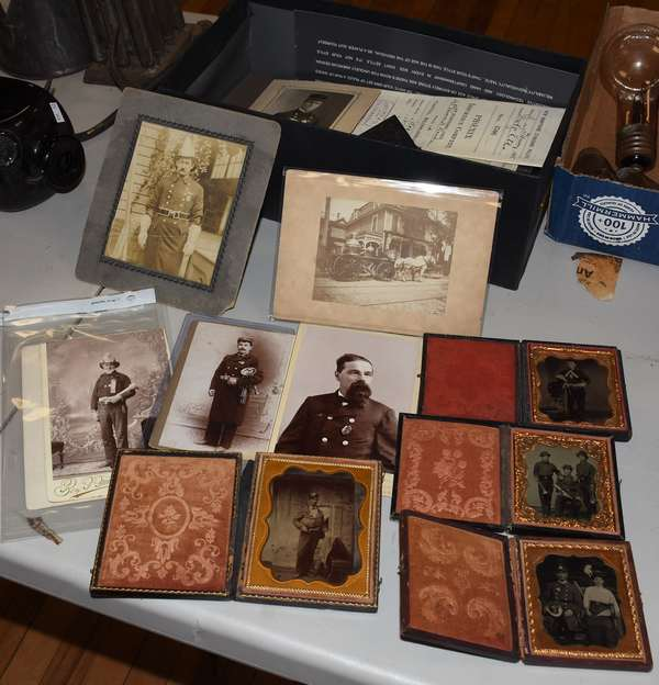 Collection fire related memorabilia (23-159)