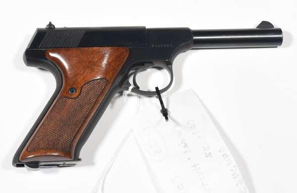 Firearm: Colt pistol, Huntsman, .22 cal. serial #044046S (T-128)(90-5)