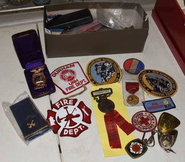 Collection of fireman collectibles (23-161)