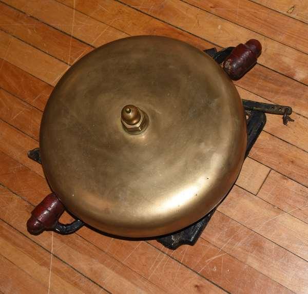 """Bronze fire house bell, 15""""Dia. (23-13)"""
