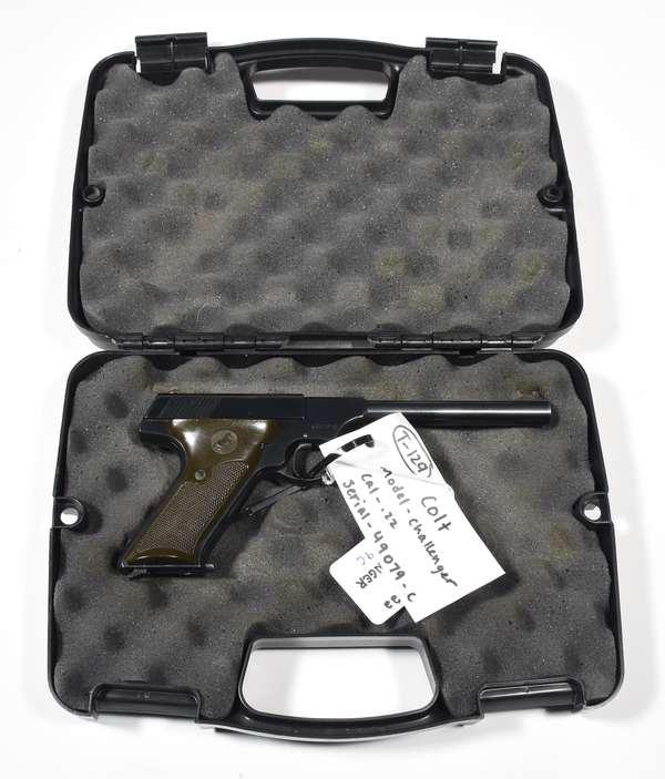 Firearm: Colt pistol, Woodsman Challenger, .22cal. serial# 49079C (T-129) (90-6)