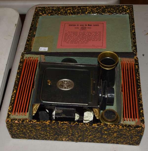 Magic lantern with slides and original box (23-163)
